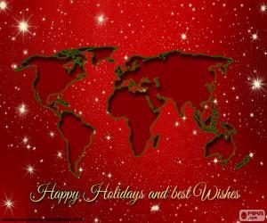 Rompicapo di Cartoline di Natale, mappa