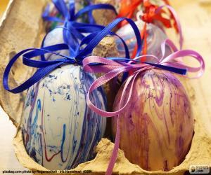 Rompicapo di Cartone per le uova di Pasqua