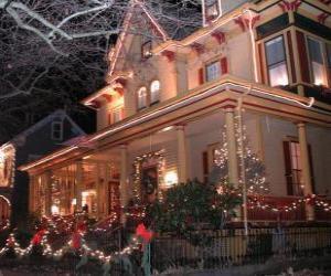 Rompicapo di Casa decorata per Natale