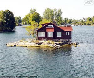 Rompicapo di Casa su una piccola isola