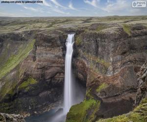 Rompicapo di Cascata di Hoifoss, Islanda