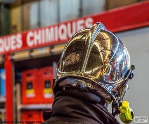 Rompicapo di Casco del pompiere cromato