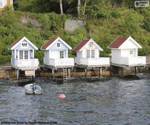 Rompicapo di Case sul lago, Norvegia