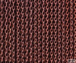 Rompicapo di Catena di ferro arrugginito