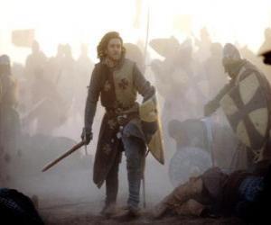 Rompicapo di Cavaliere combattendo una battaglia