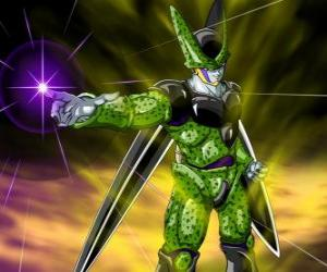 Rompicapo di Cell, la creazione finale del dottor Gero. Una forma di vita artificiale creata utilizzando cellule da Goku e altri personaggi