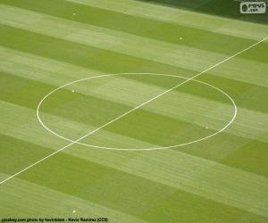 Rompicapo di Centro del cerchio di un campo di calcio