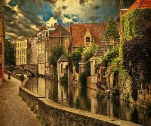Rompicapo di Centro storico di Bruges, in Belgio