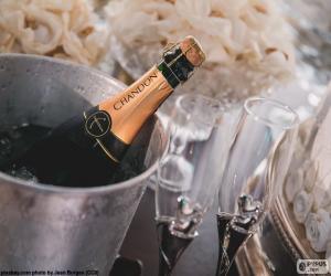 Rompicapo di Champagne e vetri