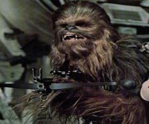 Rompicapo di Chewbacca, il grande e peloso wookiee, ha sottolineato la sua pistola