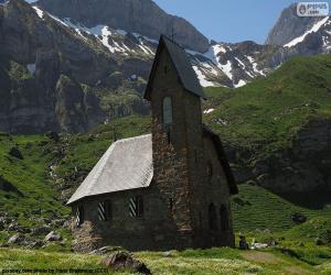 Rompicapo di Chiesa di alta montagna, Svizzera