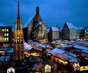 Rompicapo di Christkindl Mercato, Norimberga, in Baviera, Alemanya
