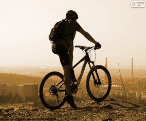 Rompicapo di Ciclista della bici di montagna