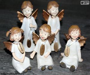Rompicapo di Cinque angeli di Natale