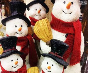 Rompicapo di Cinque pupazzi di neve