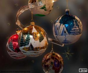 Rompicapo di Cinque sfere di Natale