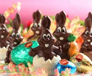 Rompicapo di Cioccolato coniglietti