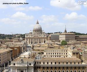 Rompicapo di Città del Vaticano, città-stato in Roma, Italia