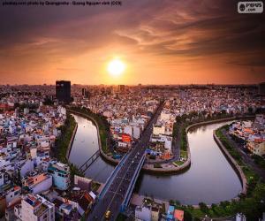 Rompicapo di Città Ho Chi Minh City, Vietnam