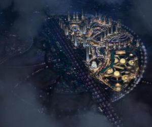 Rompicapo di Città nello spazio intergalattico