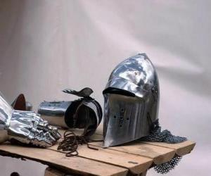Rompicapo di Città e parte della corazza di un cavaliere