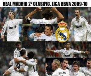 Rompicapo di Classificato secondo BBVA League Real Madrid 2009-2010