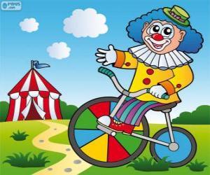 Rompicapo di Clown a bicicletta