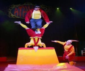 Rompicapo di Clown acrobati