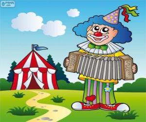 Rompicapo di Clown che suona la fisarmonica