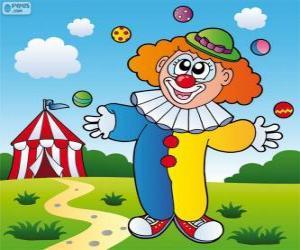 Rompicapo di Clown giocoleria