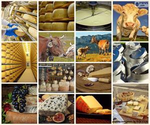 Rompicapo di Collage di formaggio