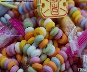 Rompicapo di Collana di caramelle