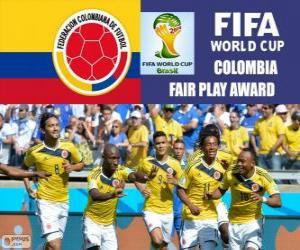 Rompicapo di Colombia, Premio Fair Play. Mondiali di calcio Brasile 2014