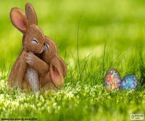 Rompicapo di Conigli di Pasqua abbracciato