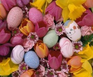 Rompicapo di Coniglietti con uove di Pasqua