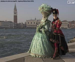 Rompicapo di Coppia Carnevale di Venezia