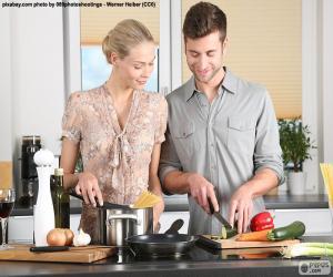 Rompicapo di Coppie nella cucina