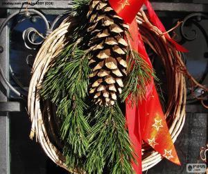 Rompicapo di Corona rustica di Natale