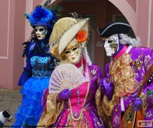 Rompicapo di Costumi Veneziani Carnevale
