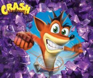 Rompicapo di Crash Bandicoot, protagonista del video gioco Crash Bandicoot