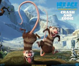 Rompicapo di Crash e Eddie, due opossum problematica