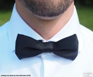 Rompicapo di Cravatta a farfalla nero