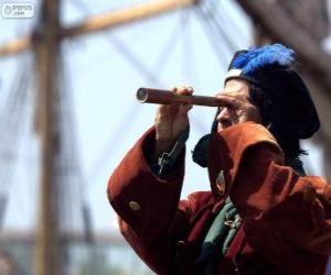 Rompicapo di Cristoforo Colombo ha raggiunto il nuovo mondo, la scoperta delle Americhe