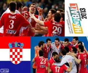 Rompicapo di Croazia medaglia di bronzo mondiale pallamano 2013
