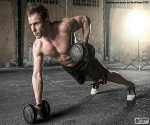 Rompicapo di CrossFit con pesi