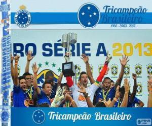Rompicapo di Cruzeiro, campione del campionato di calcio brasiliano nel 2013. Brasileirão 2013