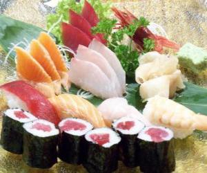 Rompicapo di Cucina giapponese Sushi