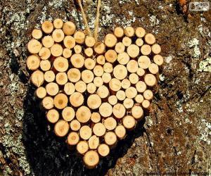 Rompicapo di Cuore dei tronchi