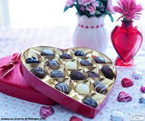 Rompicapo di Cuore del cioccolato