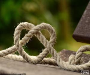 Rompicapo di Cuore della corda